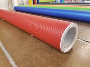Semi Gloss 4D Red Carbon Fiber Vinyl Wrap Roll Car Automotive - ALL SIZES AVAILABLE for Sale in Gardena, CA