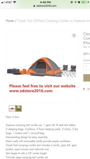 Ozark Trail 22-Piece Camping Combo w/4-person tent for Sale in Houston, TX