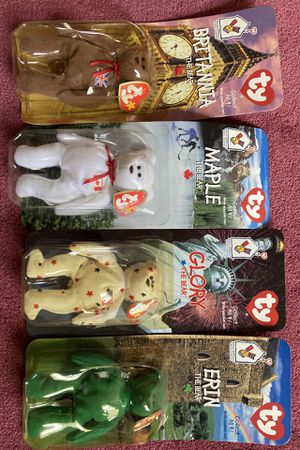 McDonalds tiny beanie baby set of 4 bears. Never opened! for Sale in North Street, MI