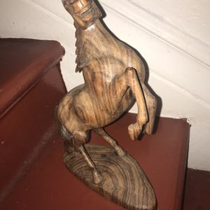 Wild Stallion Wood Sculpture for Sale in Los Angeles, CA