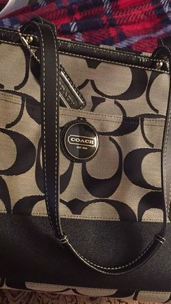 Black And Silver Coach Travel Bag for Sale in Greensburg,  PA