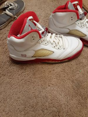 Jordan's white red n pink size 5.5y for Sale in Evansville, IN