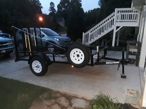 Brand new 5×8 trailer for sale. Used 1 time and a lot of extras included. for Sale in Dallas, GA