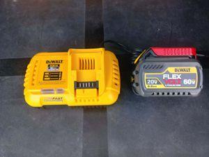DeWalt Flex volt battery 6,0 and fast charger for Sale in San Bernardino, CA