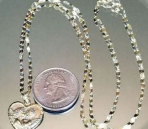 "Vintage 10K yellow gold 20"" heart cherub necklace for Sale in Lake Stevens, WA"