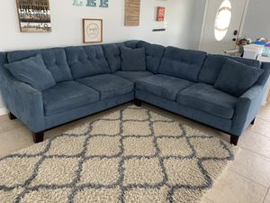 Blue L Shaped Sectional Couch for Sale in Brandon, FL