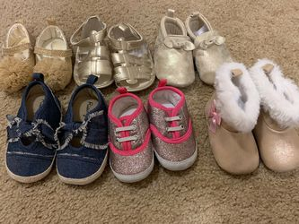 6 Pair Baby Girl Shoes for Sale in Ontario,  CA