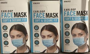 Earloop blue facemasks Still in the box insecure plastic inside. for Sale in Tempe, AZ