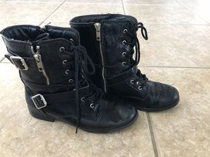 Girls size 4 black boots for Sale in Melbourne, FL