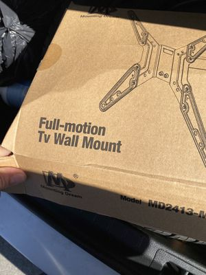 Full motion tv wall mount for Sale in Wheaton-Glenmont, MD
