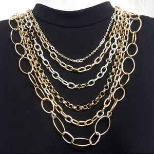 Gorgeous Two-Tone Multi Strand Necklace for Sale in Aurora, OH