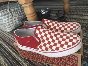 Vans red slide on's size 11.0 women's for Sale in North Little Rock, AR