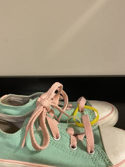 Mint Green/Pink Converse for Sale in Raleigh,  NC