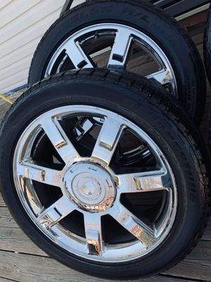 22 inch cadillac escalade wheels with tires for Sale in Elgin, IL