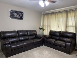 Leather reclining couches for Sale in St. Louis, MO