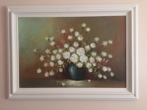 Large floral painting 44 x 32 for Sale in Elmsford, NY