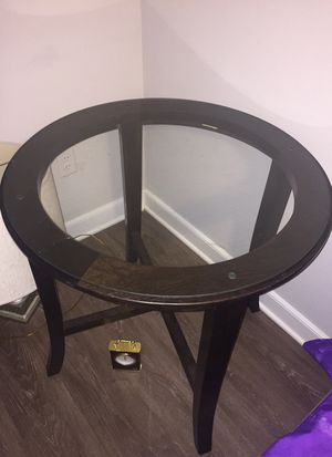 Glass small round table for Sale in Rockville, MD