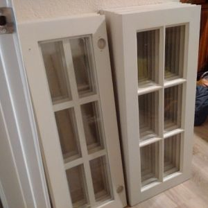 Kitchen / Bathroom cabinet glass doors for Sale in Irving, TX