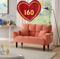 Brand new!Inbox!Sleeper Sofa,Modern Fabric Tufted Loveseat Sofa Couch with Solid Wood Legs,Living Room Furniture,with 2 pillows for Sale in Hacienda Heights,  CA