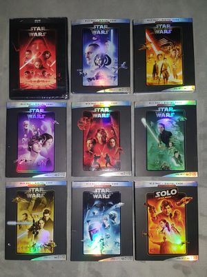 9 Star Wars movies on Blu-Ray for Sale in Hesperia, CA