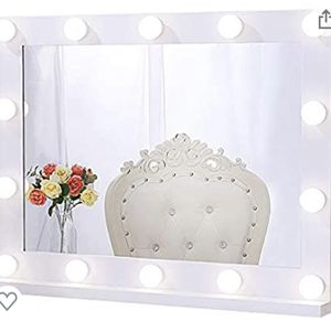 Chende Hollywood Lighted Makeup Mirror with 14 LED Light Bulbs, Lighted Vanity Mirror for Wall with Touch Control Dimmer in Makeup Studio, 3 Color Lig for Sale in Los Angeles, CA