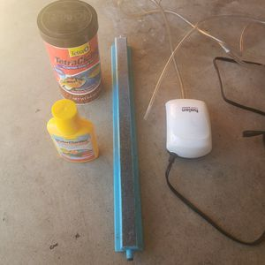 Aquarium Fish Tank Air Pump With Stone And Tubing for Sale in Westminster, CA