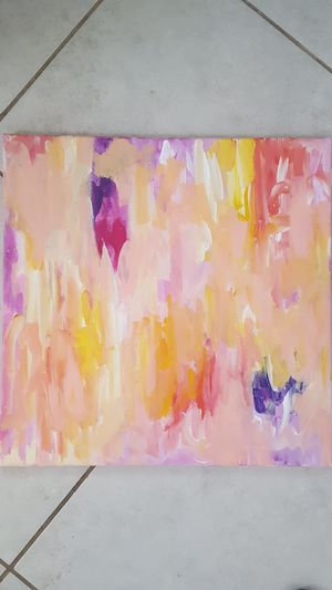 Original abstract art painting. 20 by 20 in. for Sale in Brandon, FL