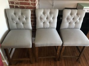 3 Tufted Barstools for Sale in Charlotte, NC