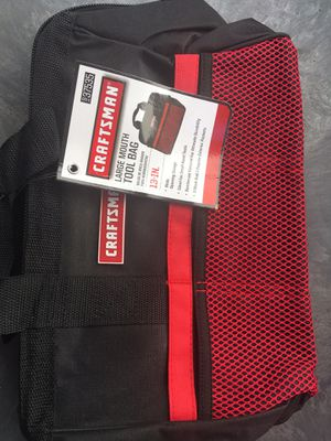 CRAFTSMAN LARGE MOUTH TOOL BAG 13-IN. NEW WITH TAGS ((NUEVA))$8 for Sale in Los Angeles, CA