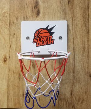 slam dunk mini basketball hoop with a ball for Sale in Tucson, AZ