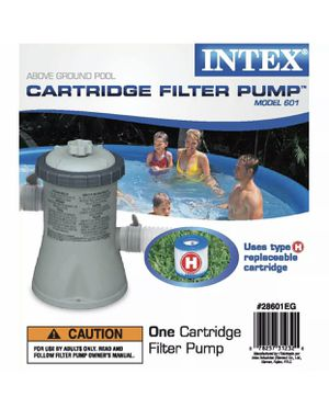 Intex 28601EG 330 GPH Easy Set Swimming Pool Cartridge Filter Pump for Sale in Roswell, GA
