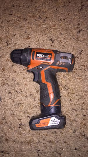 Ridgid drill and battery for Sale in Boise, ID