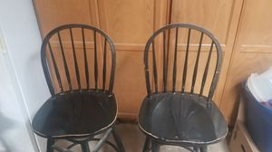 Matching black wooden bar stools for Sale in Gilbert, AZ
