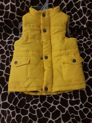 Infant/Toddler Little Me yellow Puffer vest with fleece lining for Sale in Washington, DC