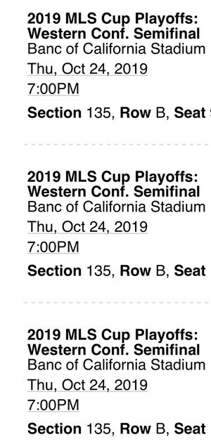 LAFC PLAYOFFS WC semifinals 10/24 for Sale in Huntington Park, CA