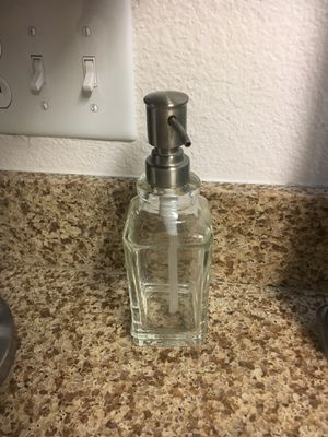 Glass soap dispenser for Sale in Rancho Cucamonga, CA