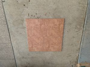 12x12 tile marrón color new never used I have 130 square foot take everything for $100 for Sale in Fontana, CA