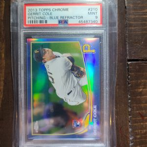 2013 Topps Chrome Gerrit Cole Blue Refractor RC PSA 9 Baseball Card for Sale in St. Petersburg, FL