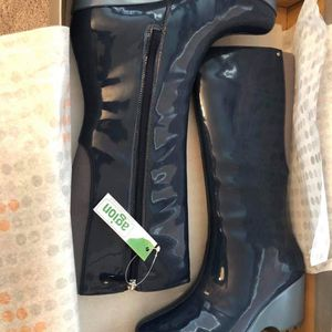 Rockport Women's Blue Wedge Rain Boots size 8.5 NIB $40 firm for Sale in Hutto, TX