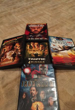 Guy movies iron man, Indiana jones, knights tale, Battle of Britain for Sale in Atlanta, GA