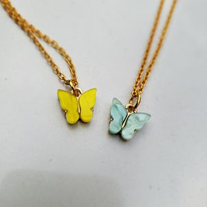 Butterfly Necklace In Blue & Yellow for Sale in Los Angeles, CA