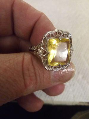 925 Sterling Silver Citrine Ring for Sale in Las Vegas, NV