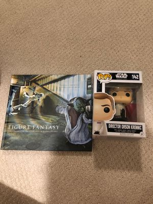 Pop Star Wars action figure. With pop culture photography book Star Wars Theme for Sale in Raleigh, NC