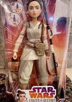 STAR WARS Forces Of Destiny REY Of JAKKU Adventure Figure Doll for Sale in Fort Worth,  TX