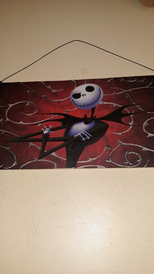 The Nightmare Before Christmas/Jack Skellington Wall Hanging Decor for Sale in Winston-Salem, NC