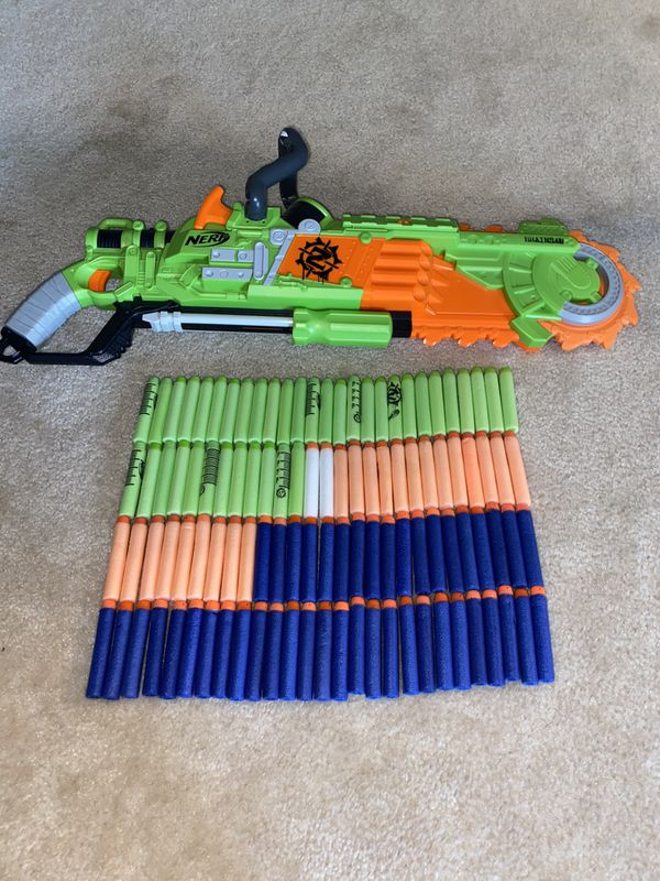 Brainsaw Nerf Gun, With 108 Bullets, $50 Value