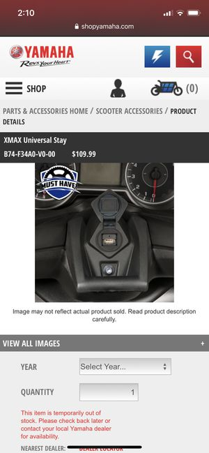 Yamaha Xmax 300 Universal Stay for Sale in San Diego, CA