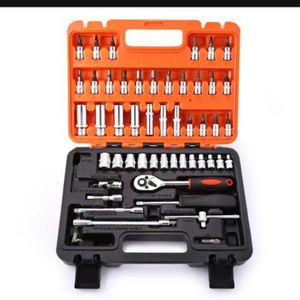 53pcs Automobile Motorcycle Repair Tool Case Precision Ratchet Wrench Sleeve Universal Joint Hardware Tools Kit Auto Tool Box for Sale in Bloomington, CA