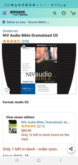 NIV Bible on CD for Sale in Tacoma, WA