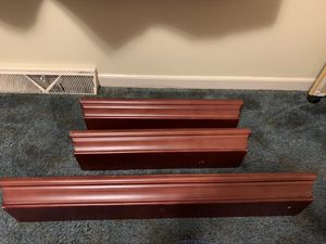 Three wooden wall shelves for Sale in Taylors, SC
